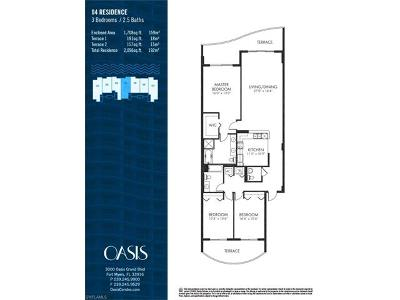 Fort Myers Condo/Townhouse For Sale: 3000 Oasis Grand Blvd #2004