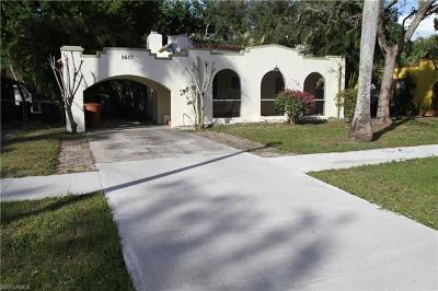 Fort Myers Single Family Home For Sale: 1617 Sunset Pl