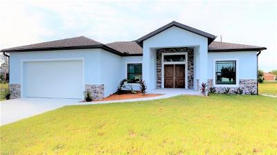 Collier County, Lee County Single Family Home For Sale: 2844 NW 5th Ter