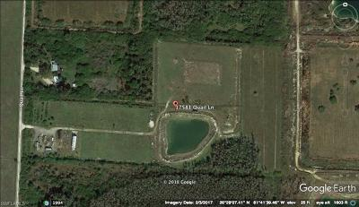 Fort Myers Residential Lots & Land For Sale: 17581 Quail Ln