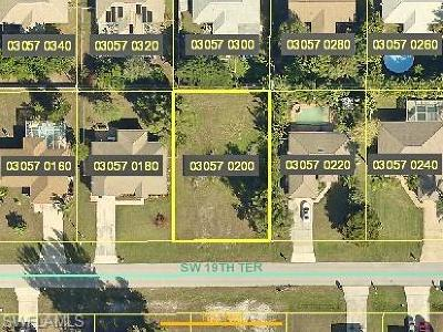 Cape Coral Residential Lots & Land For Sale: 427 SW 19th Ter