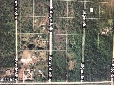 Naples Residential Lots & Land For Sale: Lager Ln