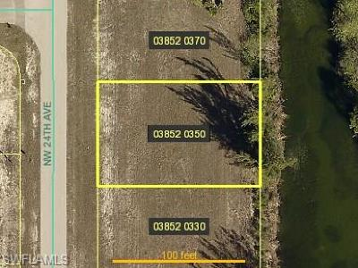 Lee County Residential Lots & Land For Sale: 2017 NW 24th Pl