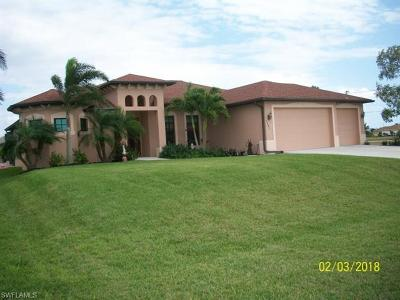 Cape Coral Single Family Home For Sale: 1607 NW 36th Pl