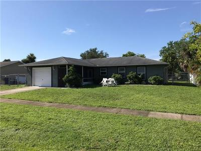 North Fort Myers Single Family Home For Sale: 953 Jolly Rd