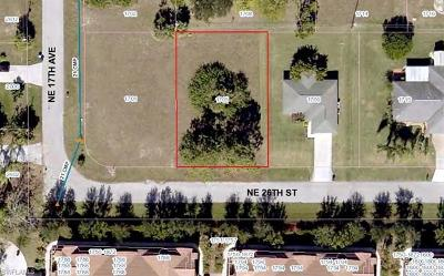 Lee County Residential Lots & Land For Sale: 1705 NE 26th St
