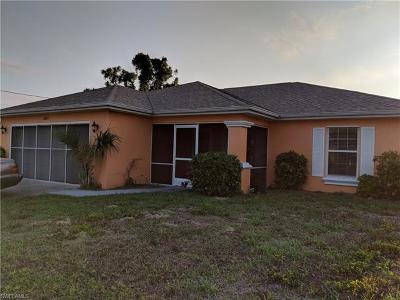 Lee County Single Family Home For Sale: 2834 NW 19th Pl