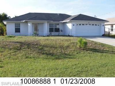 Cape Coral FL Single Family Home For Sale: $169,900