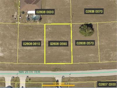 Cape Coral Residential Lots & Land For Sale: 703 NW 25th Ter