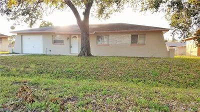 Fort Myers FL Single Family Home For Sale: $137,500