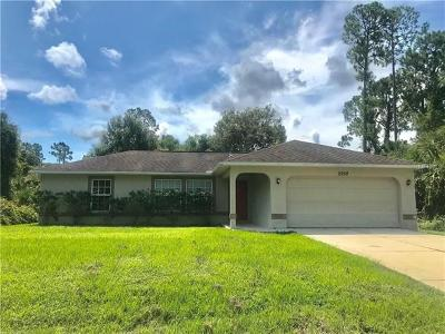 North Port Single Family Home For Sale: 2268 Blueberry Rd