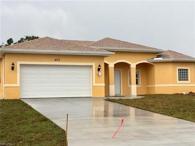 Lehigh Acres Single Family Home For Sale: 4013 34th St SW