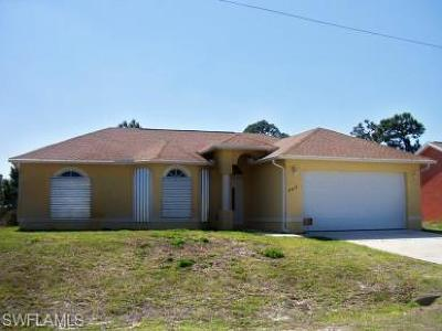 Lehigh Acres Single Family Home For Sale: 3413 29th St SW
