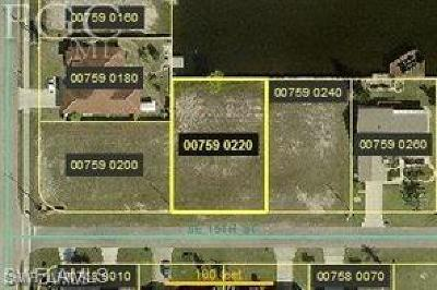 Cape Coral Residential Lots & Land For Sale: 907 SE 15th St
