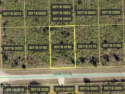 Lee County Residential Lots & Land For Sale: 3114 62nd St W