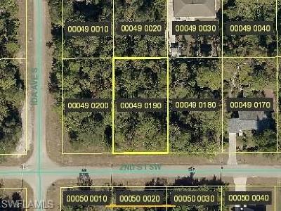 Lee County Residential Lots & Land For Sale: 2816 2nd St SW