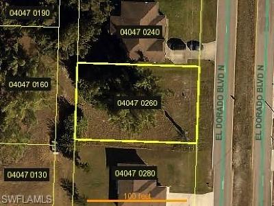 Cape Coral Residential Lots & Land For Sale: 1102 El Dorado Blvd N