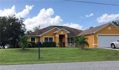 Lehigh Acres Single Family Home For Sale: 3421 25th St W