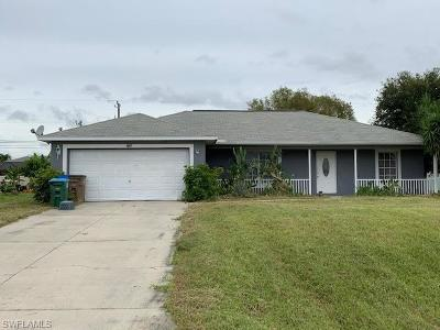Cape Coral Single Family Home For Sale: 1017 SW 32nd Ter