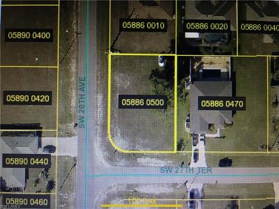 Cape Coral Residential Lots & Land For Sale: 1923 SW 27th Ter
