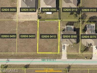 Cape Coral Residential Lots & Land For Sale: 411 NW 9th St