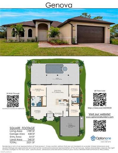 Cape Coral Single Family Home For Sale: 3221 NW 21st St