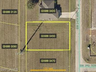Cape Coral Residential Lots & Land For Sale: 240 SW 24th Ave