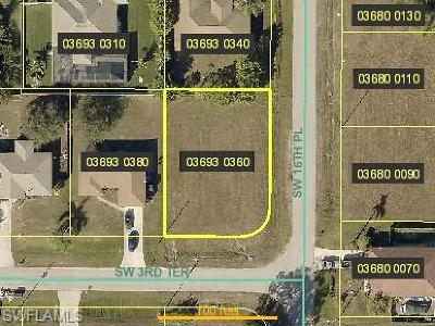 Cape Coral Residential Lots & Land For Sale: 1617 SW 3rd Ter