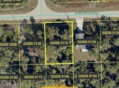 Fort Myers Residential Lots & Land For Sale: 3709 Teakwood St