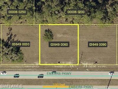 Cape Coral Residential Lots & Land For Sale: 1035 Embers Pky W