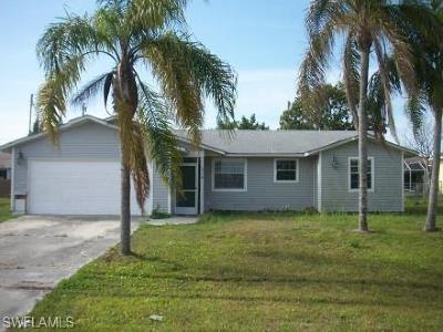 Cape Coral FL Single Family Home For Sale: $158,000
