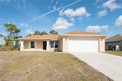 Lehigh Acres Single Family Home For Sale: 3106 54th St W