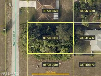 Lee County Residential Lots & Land For Sale: 23 NW 18th Pl