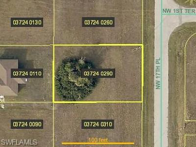 Lee County Residential Lots & Land For Sale: 108 NW 17th Pl
