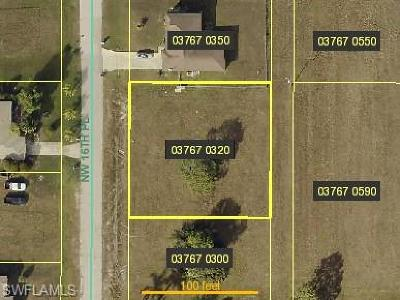 Lee County Residential Lots & Land For Sale: 621 NW 16th Pl