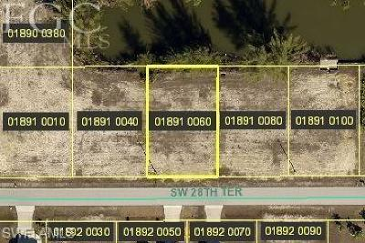 Cape Coral Residential Lots & Land For Sale: 631 SW 28th Ter
