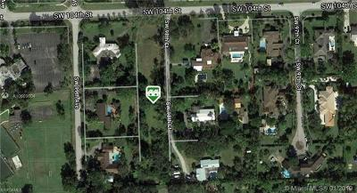 Residential Lots & Land For Sale: 9840 SW 104th St