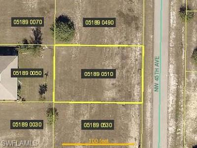 Cape Coral Residential Lots & Land For Sale: 2808 NW 45th Ave