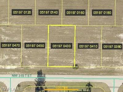 Cape Coral Residential Lots & Land For Sale: 4627 NW 31st St