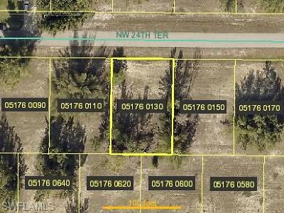Cape Coral Residential Lots & Land For Sale: 4218 NW 24th Ter