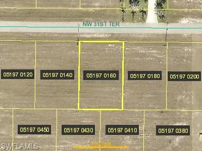 Cape Coral Residential Lots & Land For Sale: 4624 NW 31st Ter