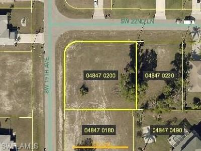 Cape Coral Residential Lots & Land For Sale: 1820 SW 22nd Ln