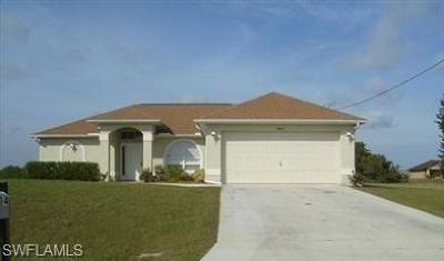 Cape Coral FL Single Family Home For Sale: $179,000