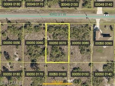 Lehigh Acres Residential Lots & Land For Sale: 2809 43rd St W