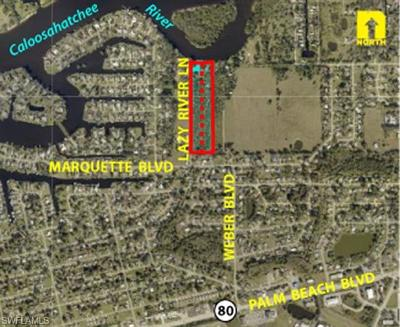 Fort Myers Residential Lots & Land For Sale: 2318 & 2330 Lazy River Ln