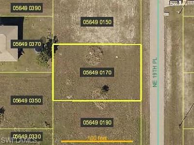 Lee County Residential Lots & Land For Sale: 3520 NE 19th Pl