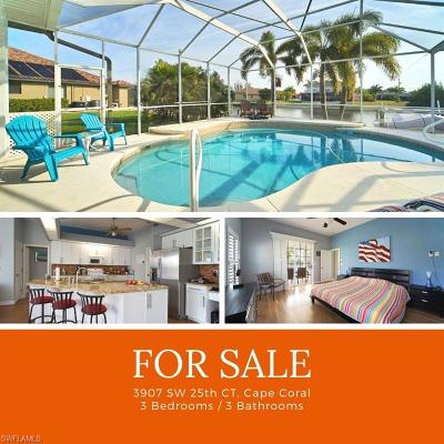 Cape Coral Single Family Home For Sale: 3907 SW 25th Ct
