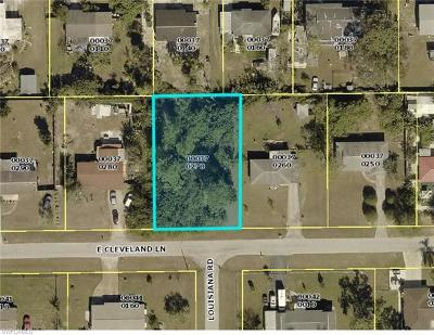 Lehigh Acres Residential Lots & Land For Sale: 501 E Cleveland Ln