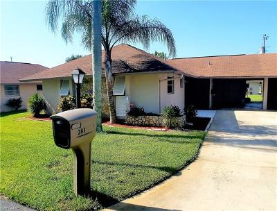 Lehigh Acres Condo/Townhouse For Sale: 281 Rosewood Ct