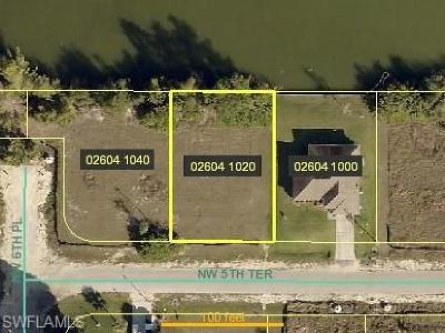 Cape Coral Residential Lots & Land For Sale: 607 NW 5th Ter